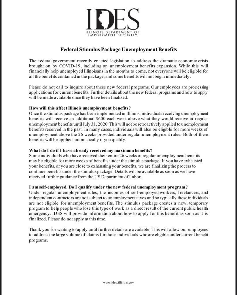 Federal Stimulus Package Unemployment Benefits