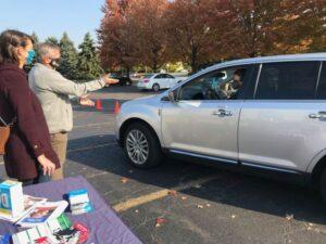 Senator Martwick co-hosts drive-thru flu shot event