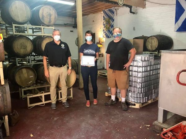 Senator Martwick and Rep. LaPointe honor Lake Effect Brewing Company