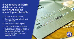 IDES helpline available to assist with fraud