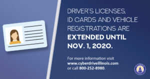 Expired license or ID? You have time to renew.