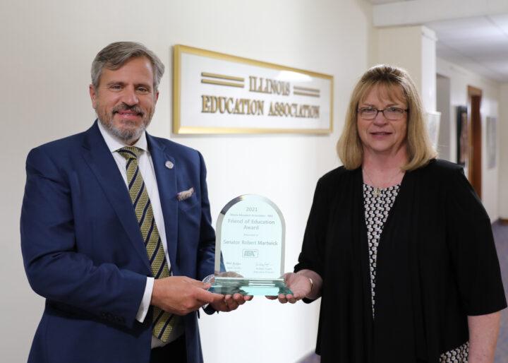 Martwick awarded IEA's Friend of Education award
